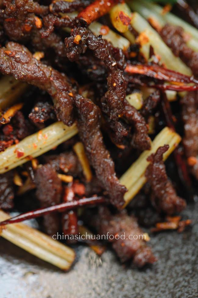 Szechuan dry fried beef |chinasichuanfood.com
