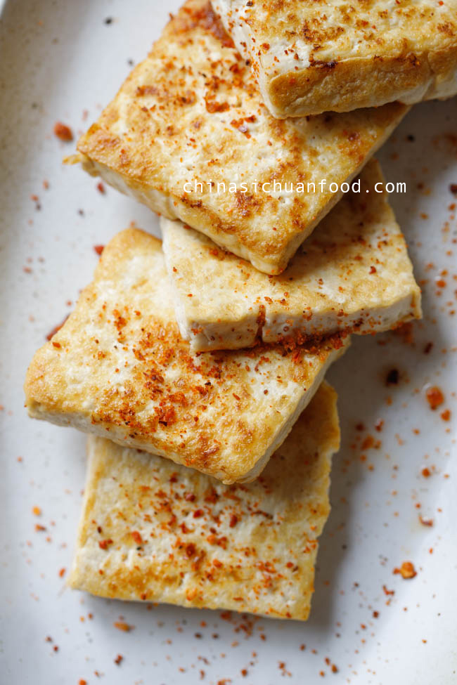 pan-fried tofu|chinasichuanfood.com