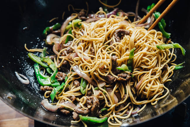 Black pepper beef noodles|chinasichuanfood.com