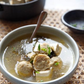 Tofu and Meatball soup|chinasichuanfood.com