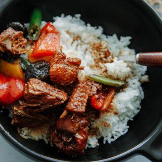 Chinese braised chicken with rice|chinasichuanfood.com