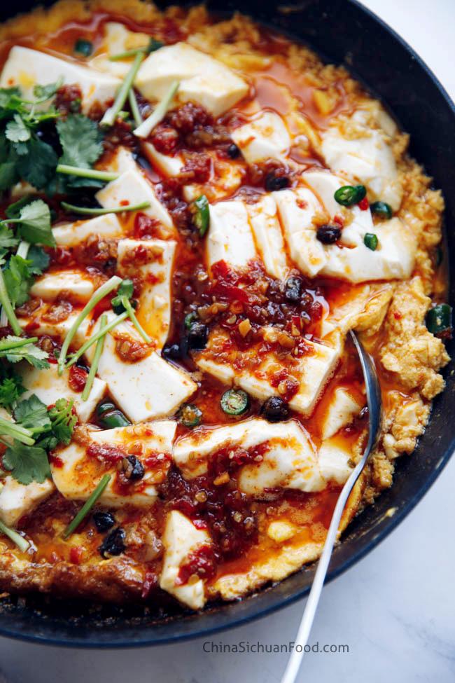 ont pot tofu and egg|chinasichuanfood.com