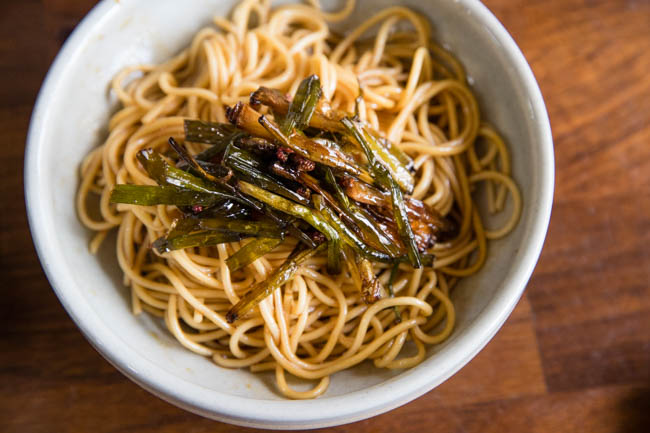 This image has an empty alt attribute; its file name is scallion-oil-noodles-24.jpg